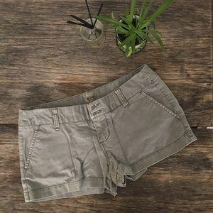 Green Cotton Shorts
